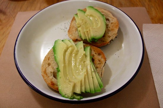 Kitchen: Bagel with avocado