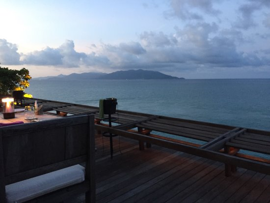 Six Senses Samui: The food was amazing and the service outstanding. The view was breathtaking. A special treat for