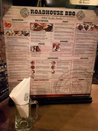 Roadhouse Barbecue: 2' x 2' menu