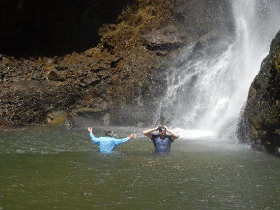 Tilarán, Costa Rica: Swimming in the 3rd waterfall!