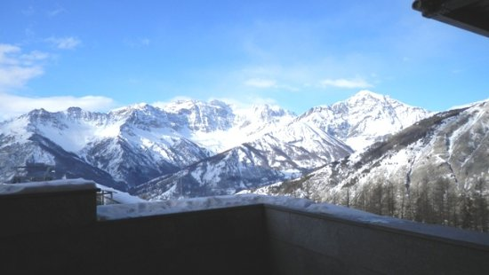 Bardonecchia, Italy: From the porch of the Hotel Residence Jafferau