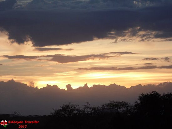Sunset over the Amboseli National Park