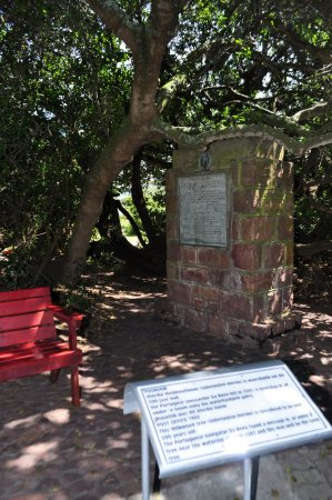 Mossel Bay, South Africa: A plaque discussing the history of the first letter posted in South Africa