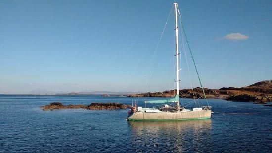 Isle of Eigg, UK: Moored
