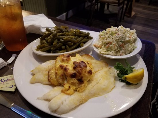 Glen Burnie, MD: Broiled grouper plate