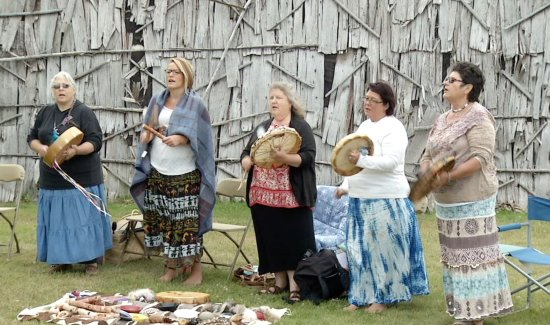 Museum of Ojibwa Culture: Grandmother Moon Drummers