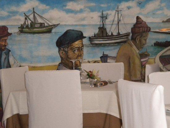 Atrani, Italia: Affresco nella sala da pranzo