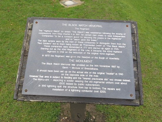 Aberfeldy, UK: hHstory of Black Watch and the Memorial