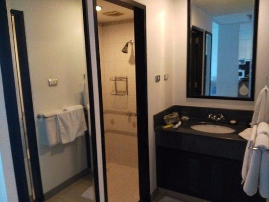 Sink area and showerroom