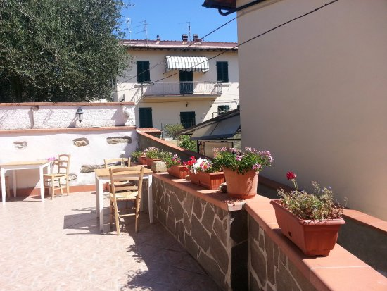 Signa, Italien: The terass