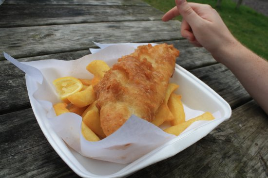 Porlock Weir, UK: Fish&Chips - just delicious