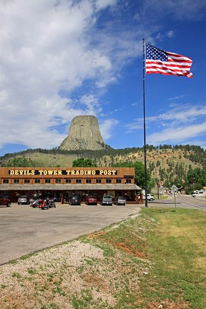Devils Tower, WY: Visible de loin
