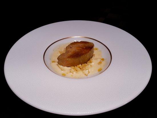 Sainte-Maure-de-Touraine, Frankrike: foie gras de canard restaurant la poste