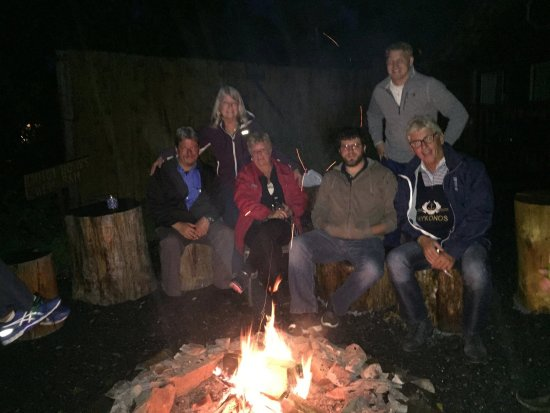 Cooper Landing, AK: Our family members from all over the world gathered around the campfire in September 2015!