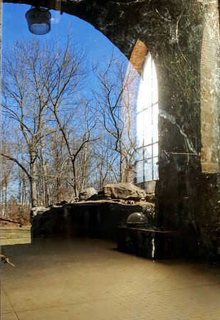 Alburtis, PA: reflection looking inside the furnace building