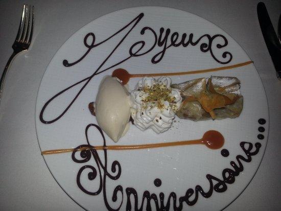 Restaurant Le Pressoir : Aumonnière aux fruits