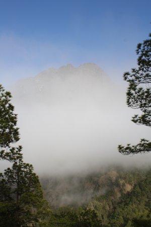 El Paso, Spania: Sich zuziehender Nebel