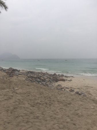 Bad weather at Six Senses Zighy Bay