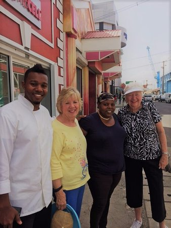 Gros Islet, Saint Lucia: Dean, Fran, Dean's mother and Mary Lu after their fun morning!