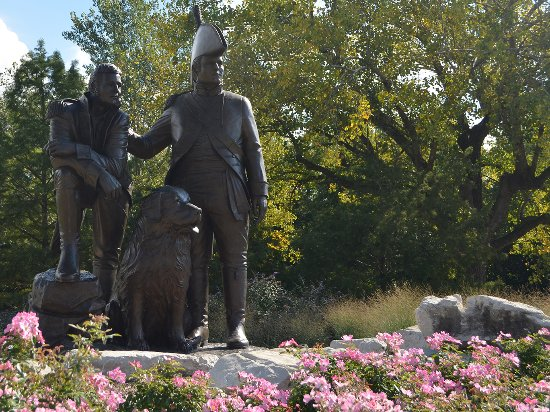 Saint Charles, MO: Lewis & Clark Statue in Frointier Park