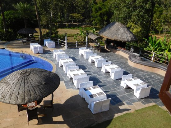 Orange County, Coorg: set up for daily high tea