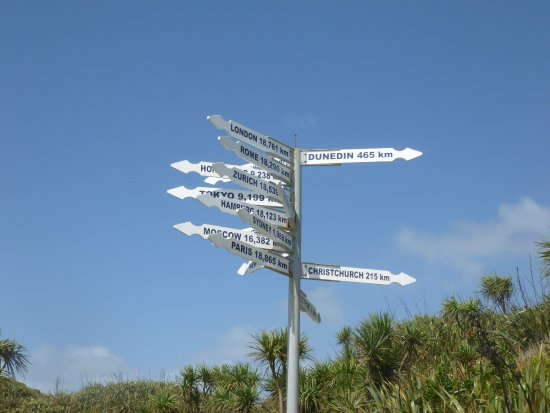 Westport, Selandia Baru: Signpost to the world