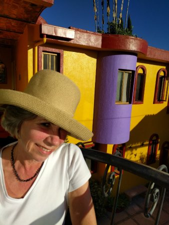 Ajijic Suites on Hidalgo : wife on balcony