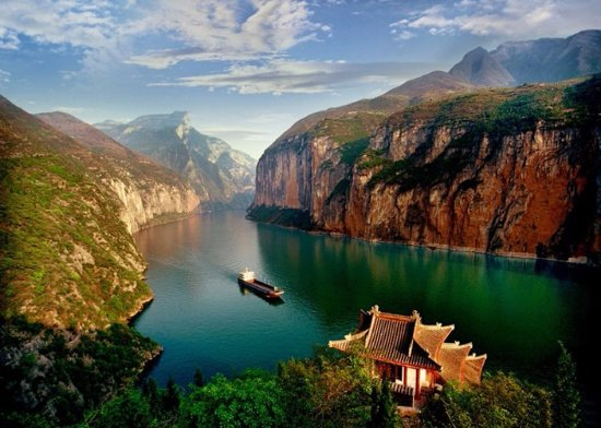 Yichang, China: Three Gorges View