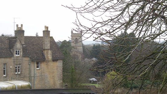 Chipping Norton, UK: Side view from car park, looking into Chippy Norton