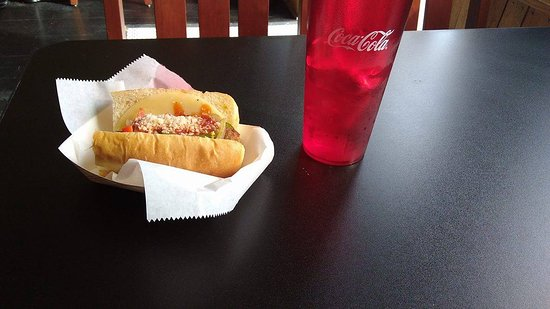 Connellsville, PA: Hot Sausage Sandwich