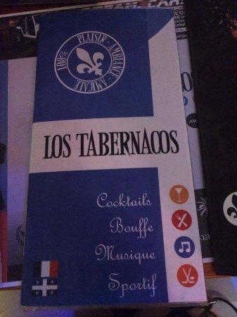 Los Tabernacos Sports Bar and Lounge: menus