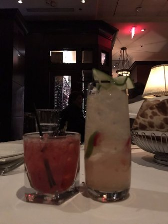 Tysons Corner, VA: Left to right: Blackberry Bourbon Sidecar and Fire and Ice