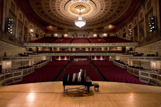 The view from Kodak Hall at Eastman Theatre's stage.