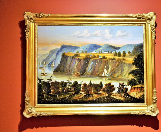 Shelburne, VT: Thomas Chamber (England 1808- US 1869), view of West Point, ca. 1843/60- un de ses sujets popula