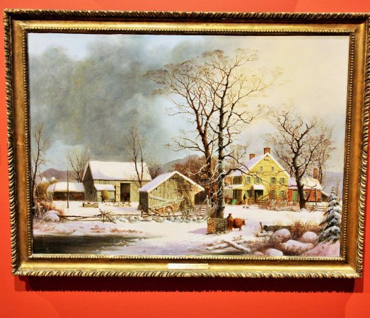Shelburne, VT: George Henry Durrie (1820/63), winter in the country, a cold morning, 1862