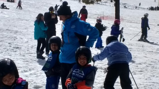 Snow Summit: With Instructor Robert, very nice instructor, Kids love him