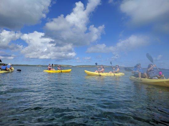 Saint Phillip Parish, Antigua: kayaking as a group