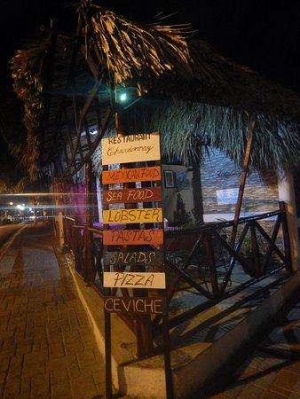 Sign outside the restaurant