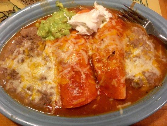 Los Lunas, NM: Enchiladas with beans