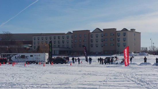 Bemidji, MN: I600 Cross Country Snowmobile Race Finish Line