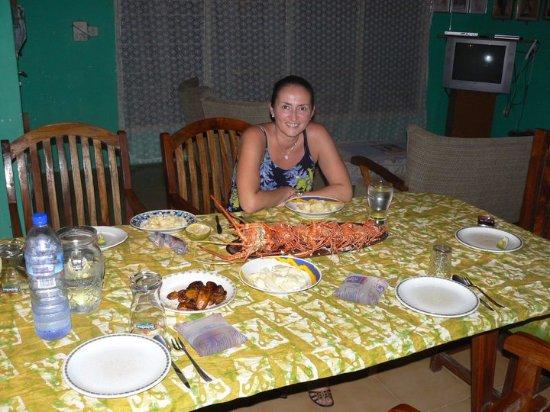 Busua, Ghana: Cena con aragoste