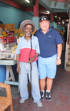 Christ Church Parish, Barbados: Sorrel juice at the veg market.