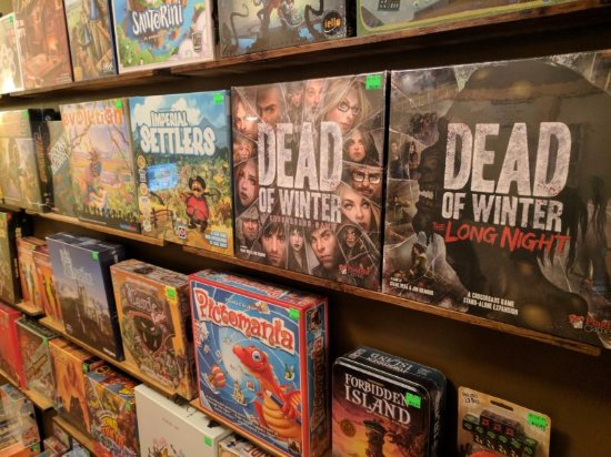 Nanaimo, Canada: Board games available for sale.