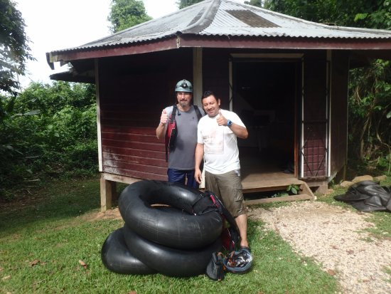Blue Hole National Park: Our guide, Edgar, on the right