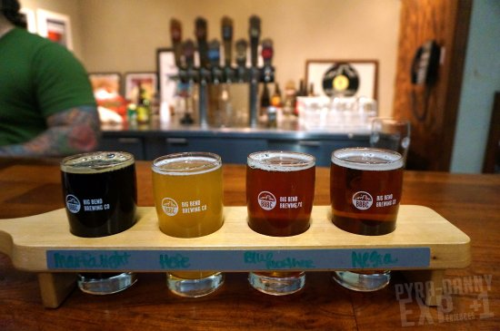 Alpine, TX: Our flight: Russian Imperial Stout, Hefeweizen, Red Ale, Negra