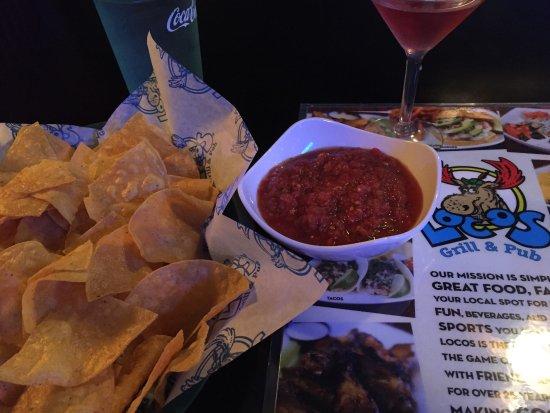 Statesboro, Джорджия: Chips and Salsa y Cosmopolitan