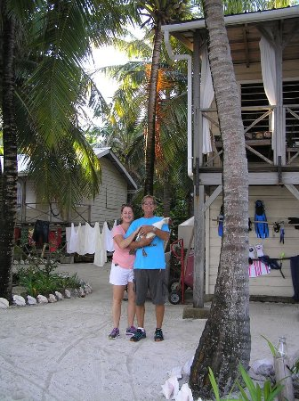 Off The Wall Dive Center & Resort: Meet the owners: Kendra and Jim, and crazy duck Buzzy