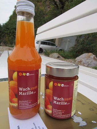 Apricot jam and nectar are the specialty products in Wachau Valley