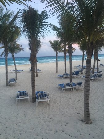 The beach in front of the Allegro Playacar and grounds