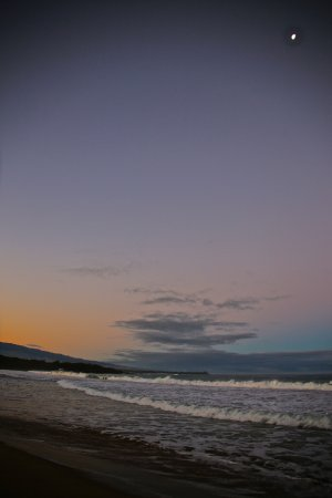Sunset With Full Moon At Hapuna Beach Prince Hotel The
